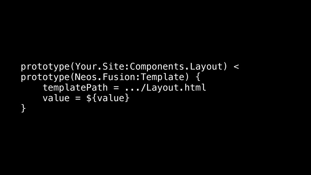 prototype(Your.Site:Components.Layout) < protot...