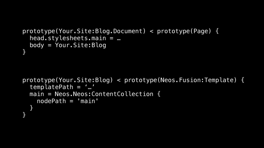 prototype(Your.Site:Blog.Document) < prototype(...