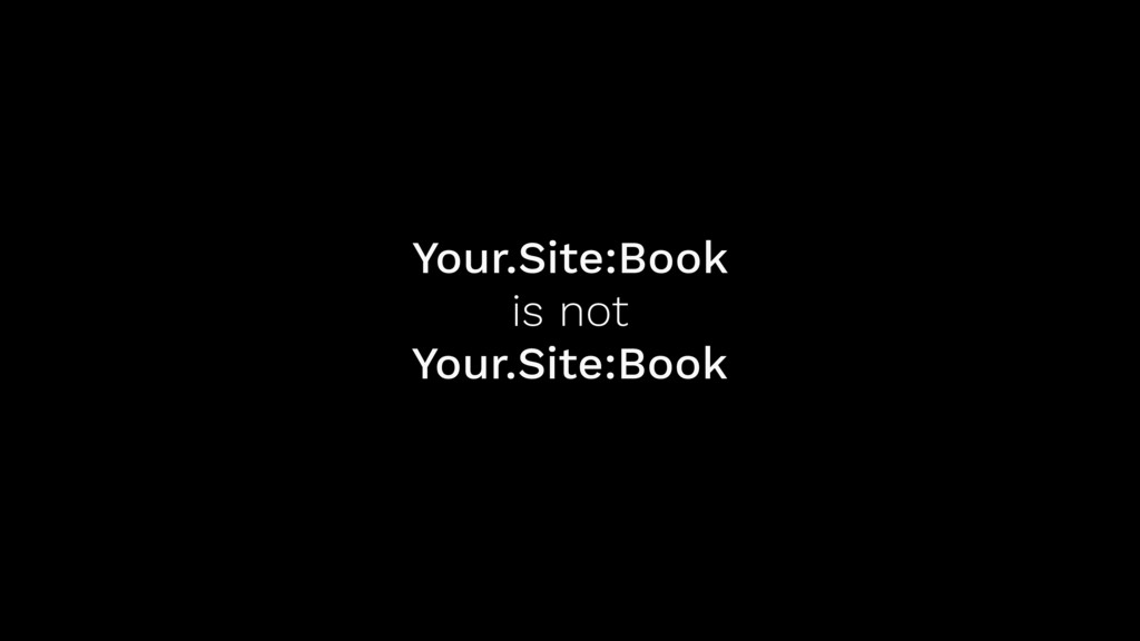 Your.Site:Book is not Your.Site:Book