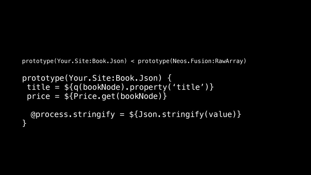prototype(Your.Site:Book.Json) { title = ${q(bo...