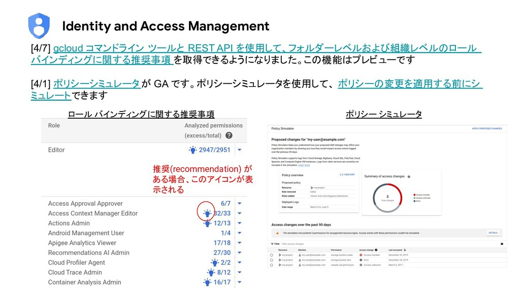 Identity and Access Management [4/7] gcloud コマン...