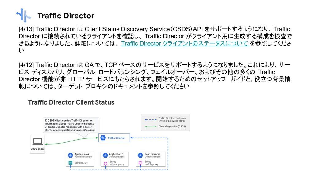 Traffic Director [4/13] Traffic Director は Clie...