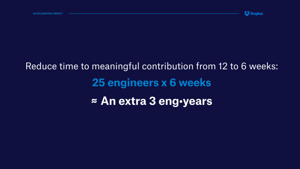 Reduce time to meaningful contribution from 12 ...