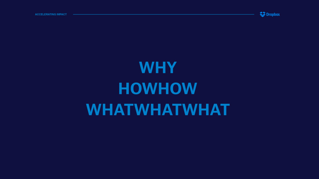 WHY HOWHOW WHATWHATWHAT ACCELERATING IMPACT
