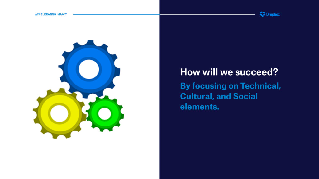 How will we succeed? By focusing on Technical, ...