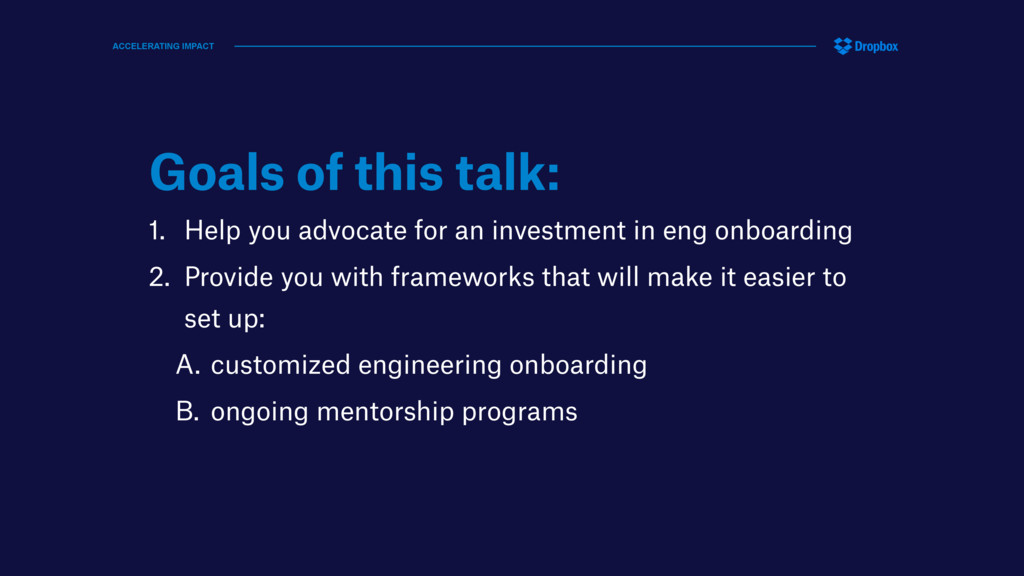 Goals of this talk: 1. Help you advocate for an...