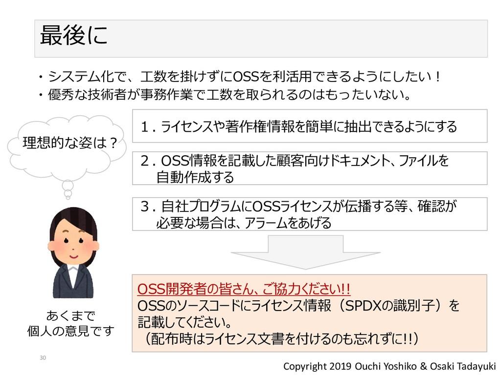 Copyright 2019 Ouchi Yoshiko & Osaki Tadayuki 最...