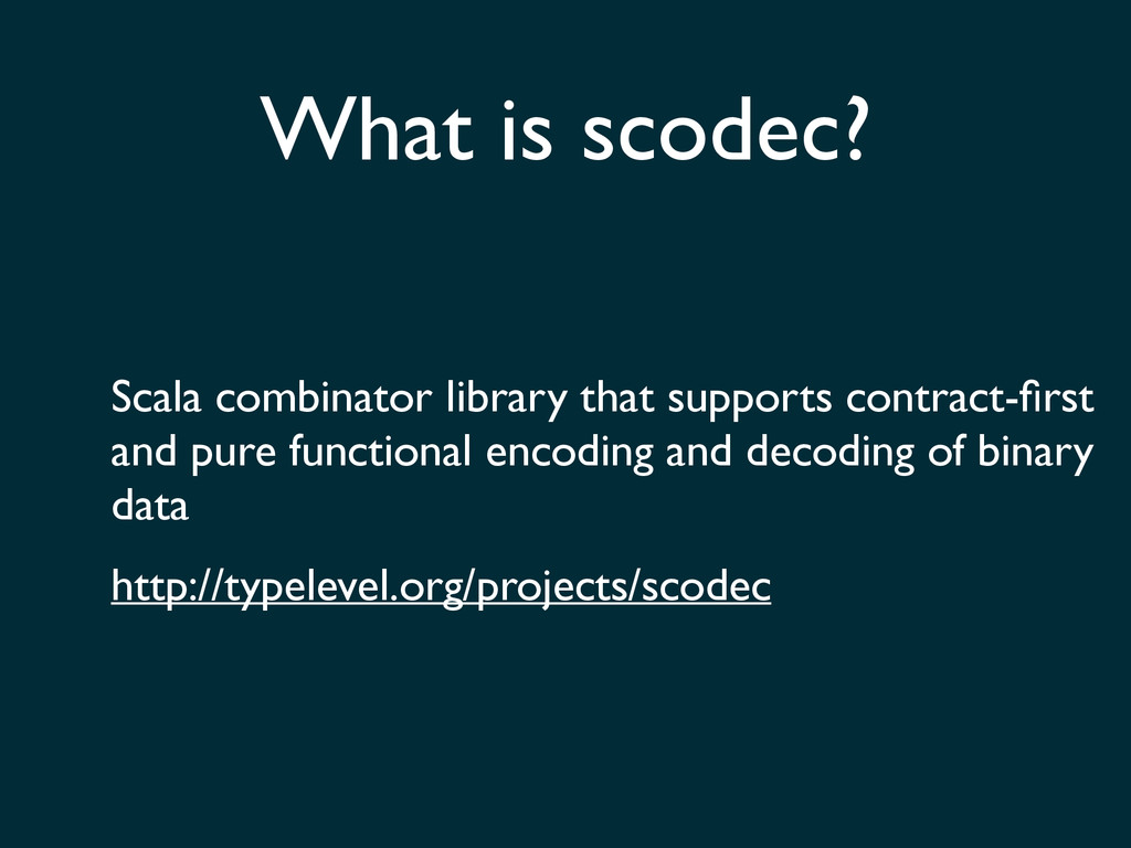 Scala combinator library that supports contract...