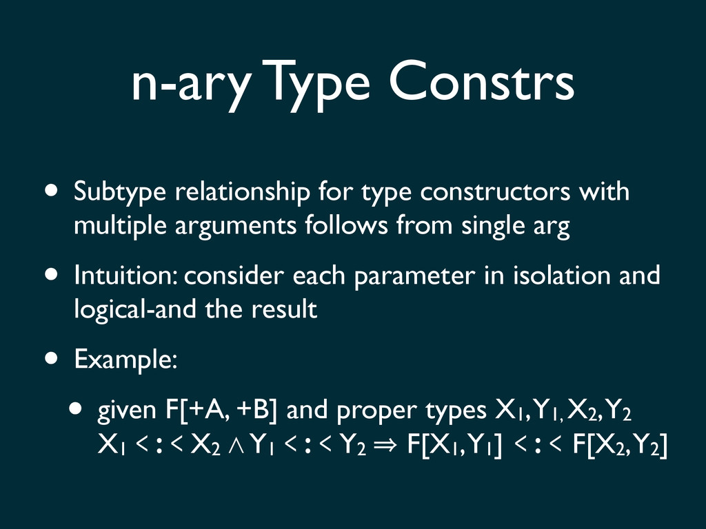 • Subtype relationship for type constructors wi...
