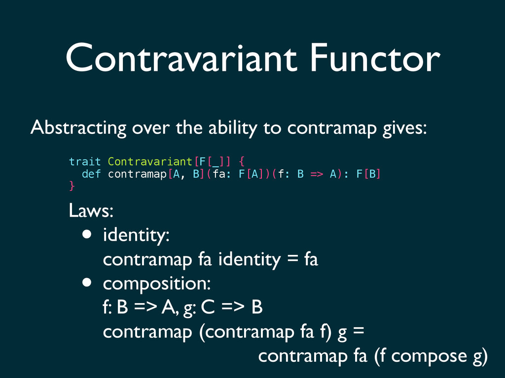 Contravariant Functor Abstracting over the abil...