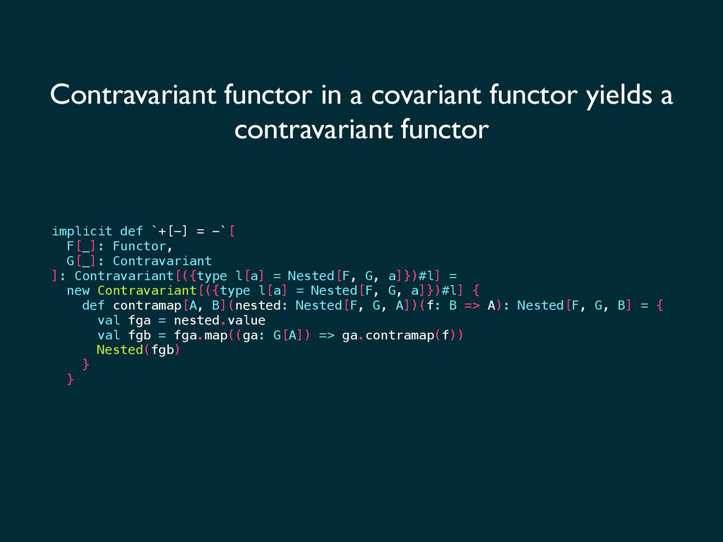 Contravariant functor in a covariant functor yi...