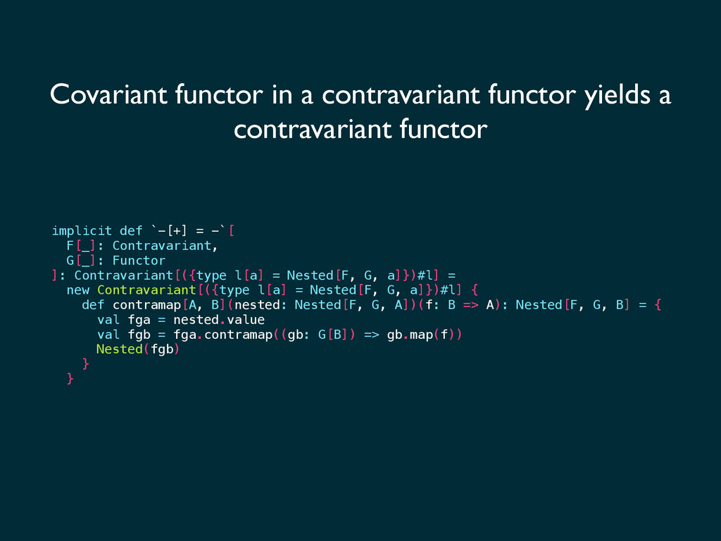 Covariant functor in a contravariant functor yi...