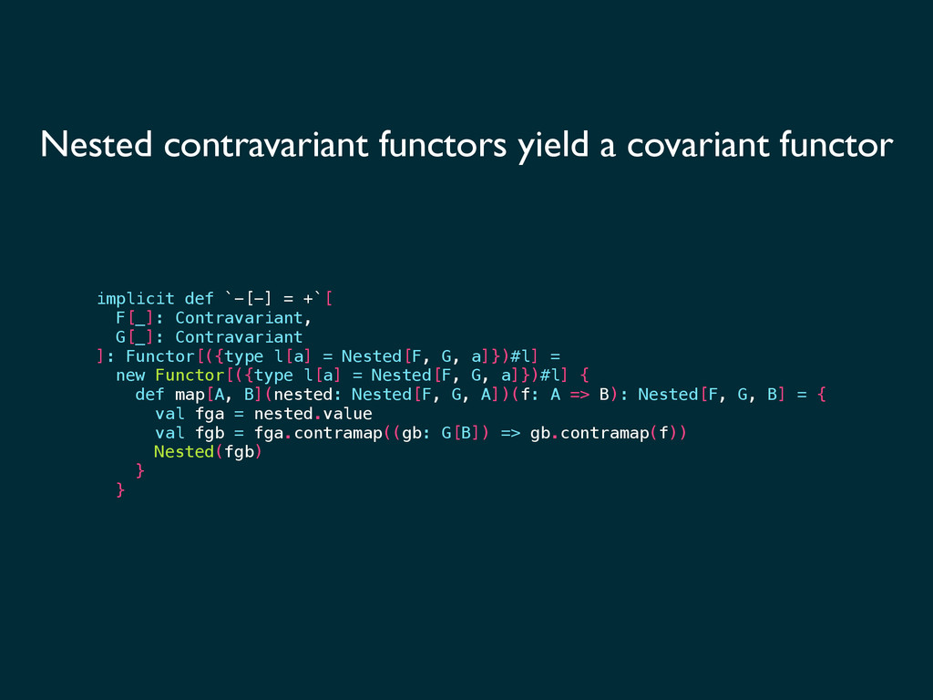 Nested contravariant functors yield a covariant...