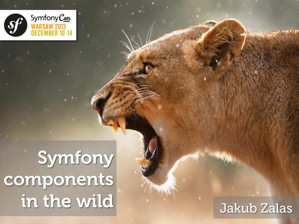 Symfony components in the wild Jakub Zalas