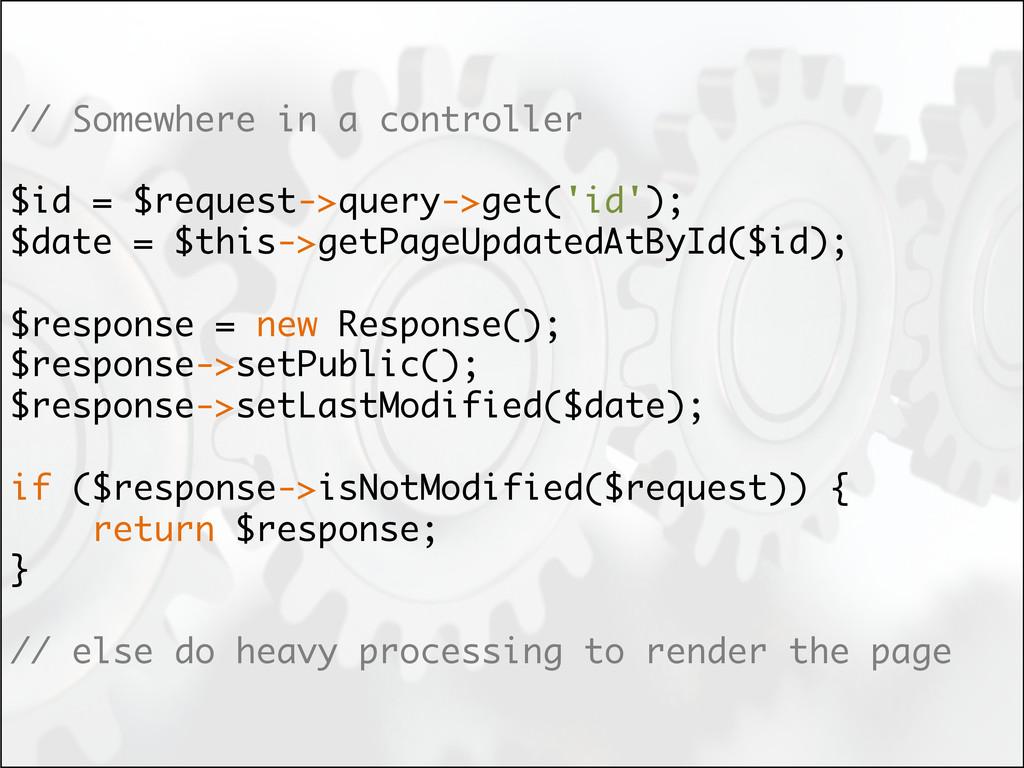 // Somewhere in a controller $id = $request->qu...