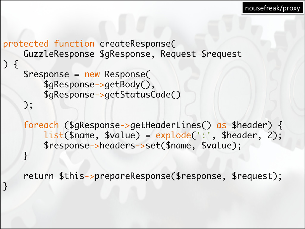 protected function createResponse( GuzzleRespon...