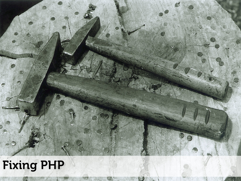 Fixing PHP