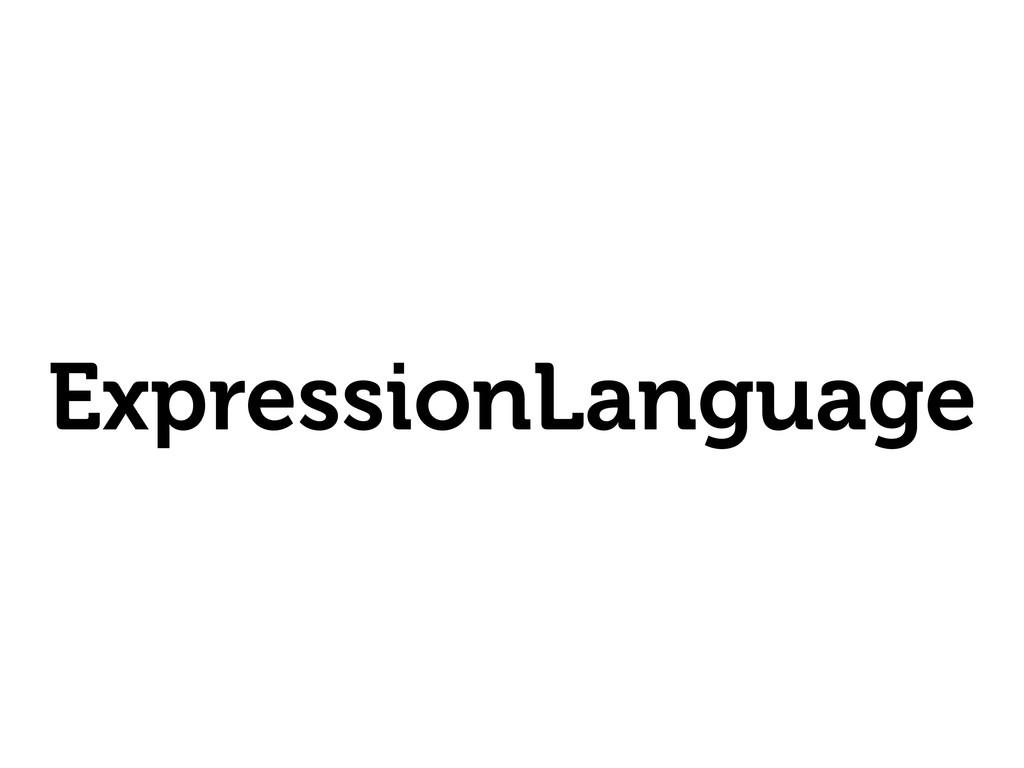 ExpressionLanguage