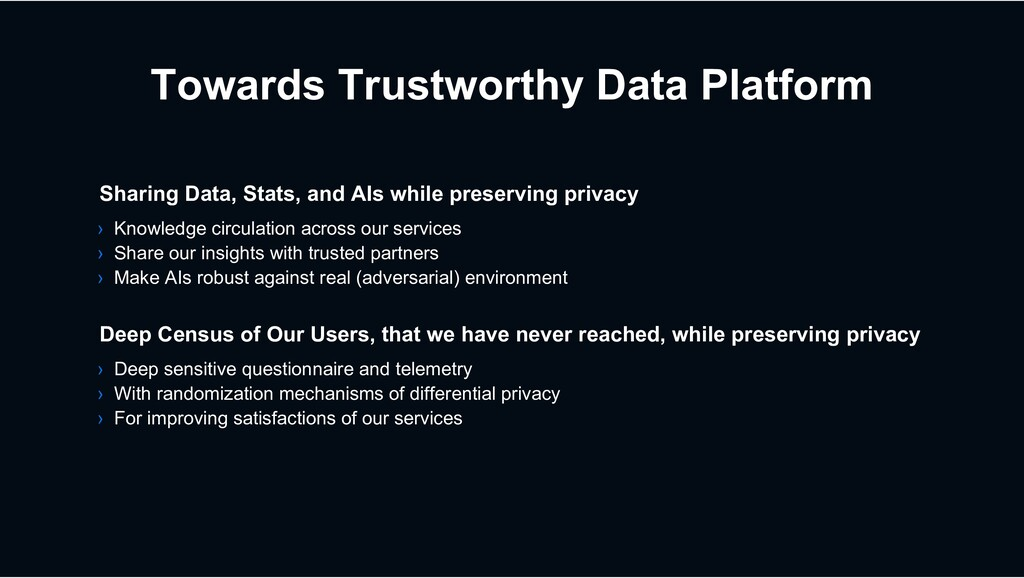 Towards Trustworthy Data Platform › Deep sensit...