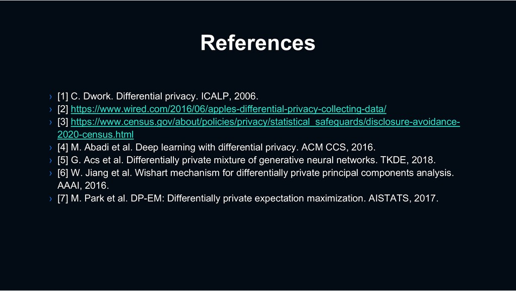 References › [1] C. Dwork. Differential privacy...