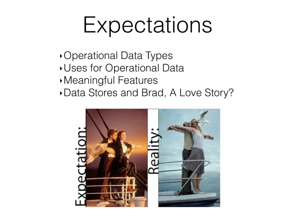 Expectations ‣Operational Data Types ‣Uses for ...