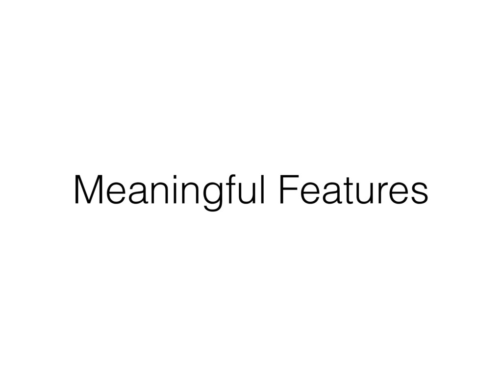 Meaningful Features