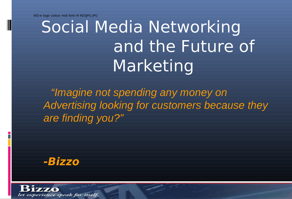 Social Media Networking and the Future of Marke...