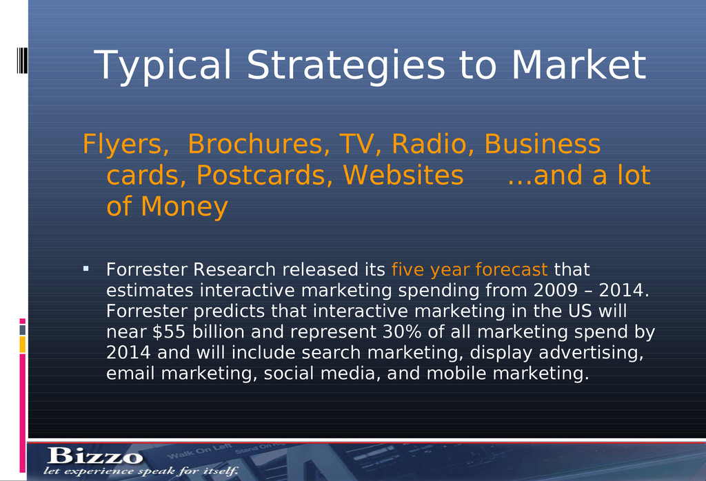 Typical Strategies to Market Flyers, Brochures,...