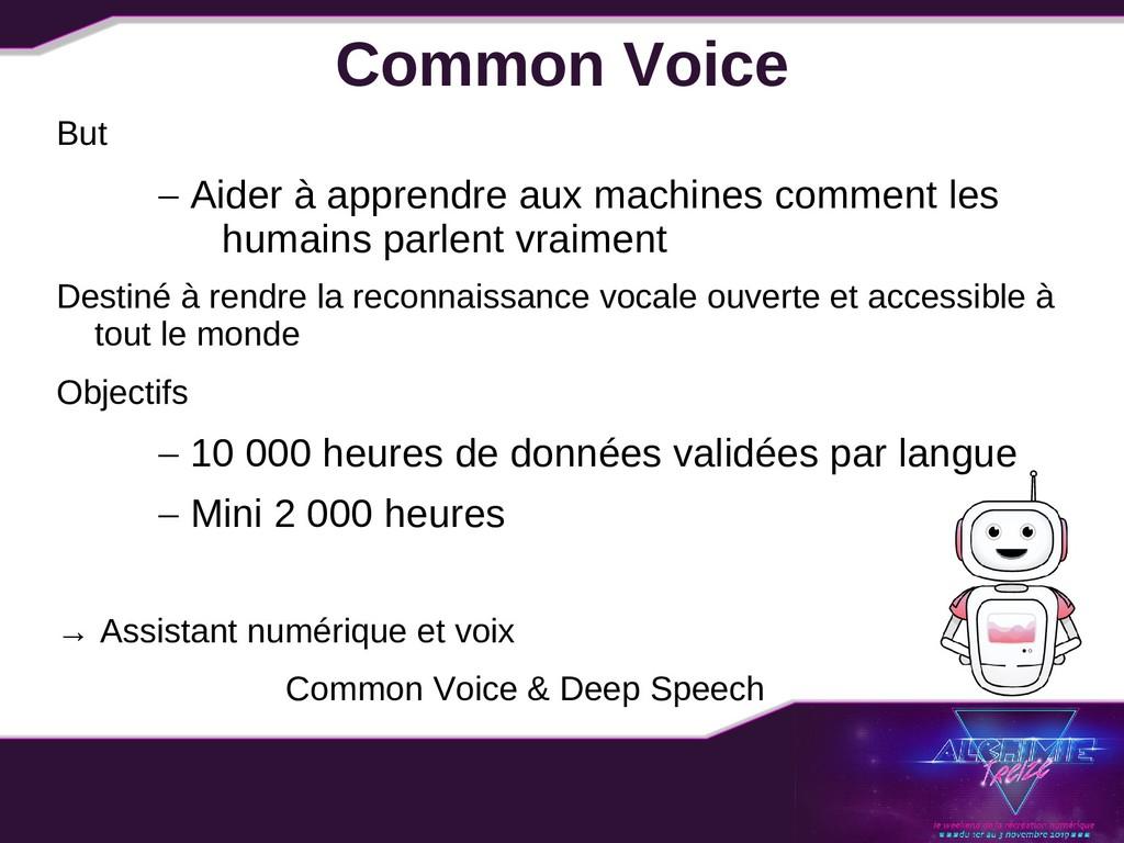 Common Voice But – Aider à apprendre aux machin...