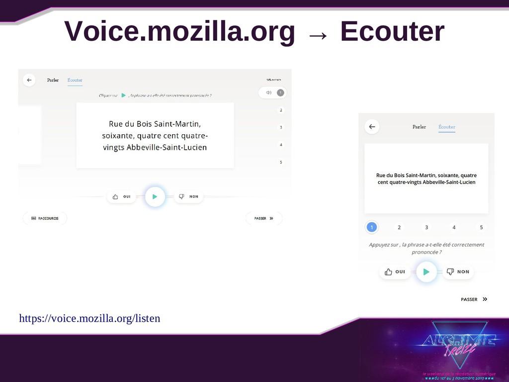 Voice.mozilla.org → Ecouter https://voice.mozil...