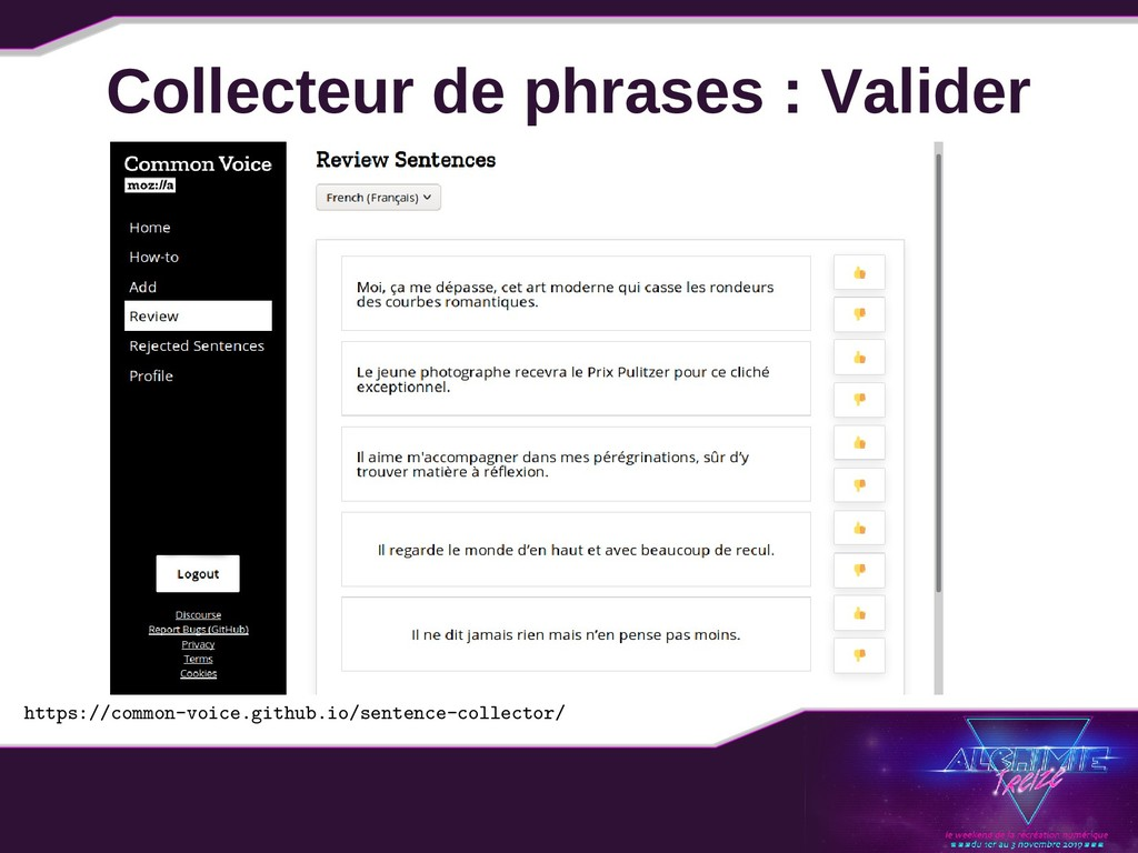 Collecteur de phrases : Valider https://common-...