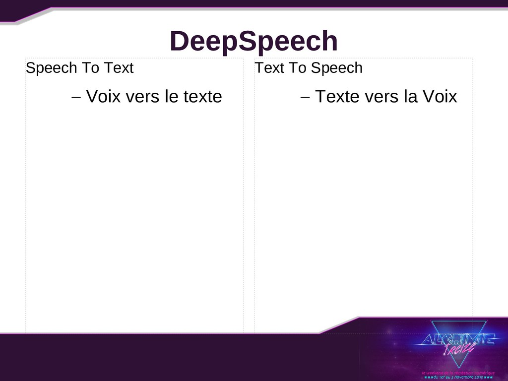 DeepSpeech Speech To Text – Voix vers le texte ...