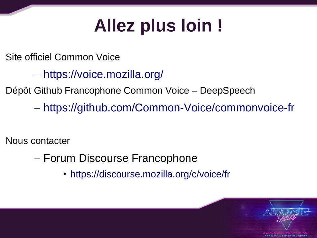 Allez plus loin ! Site officiel Common Voice – ...