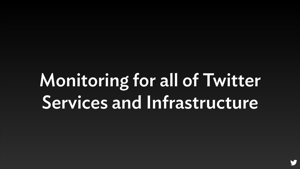 Monitoring for all of Twitter Services and Infr...