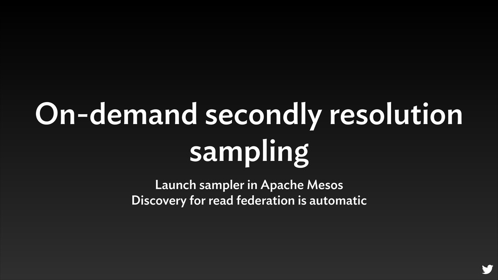 On-demand secondly resolution sampling Launch s...