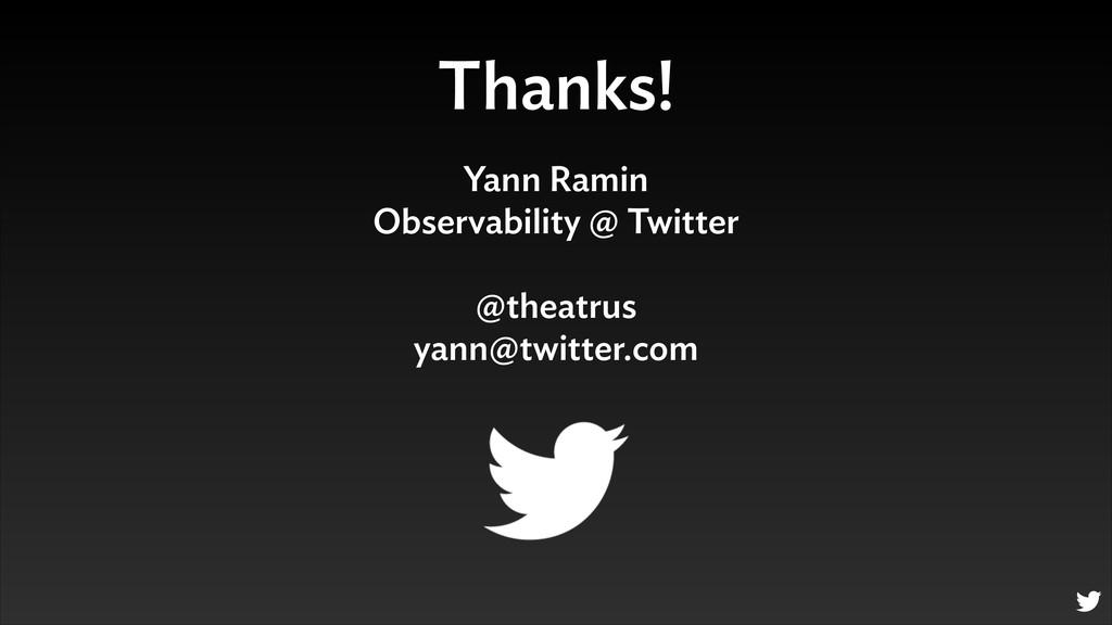 Thanks! Yann Ramin Observability @ Twitter ! @...