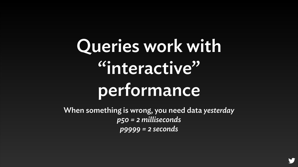 "Queries work with ""interactive"" performance Whe..."
