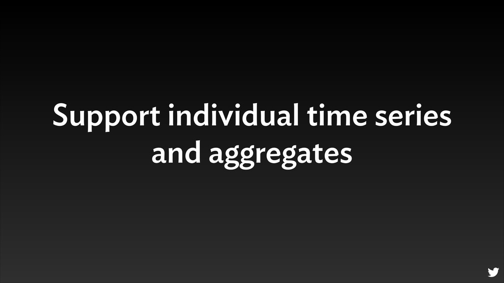 Support individual time series and aggregates