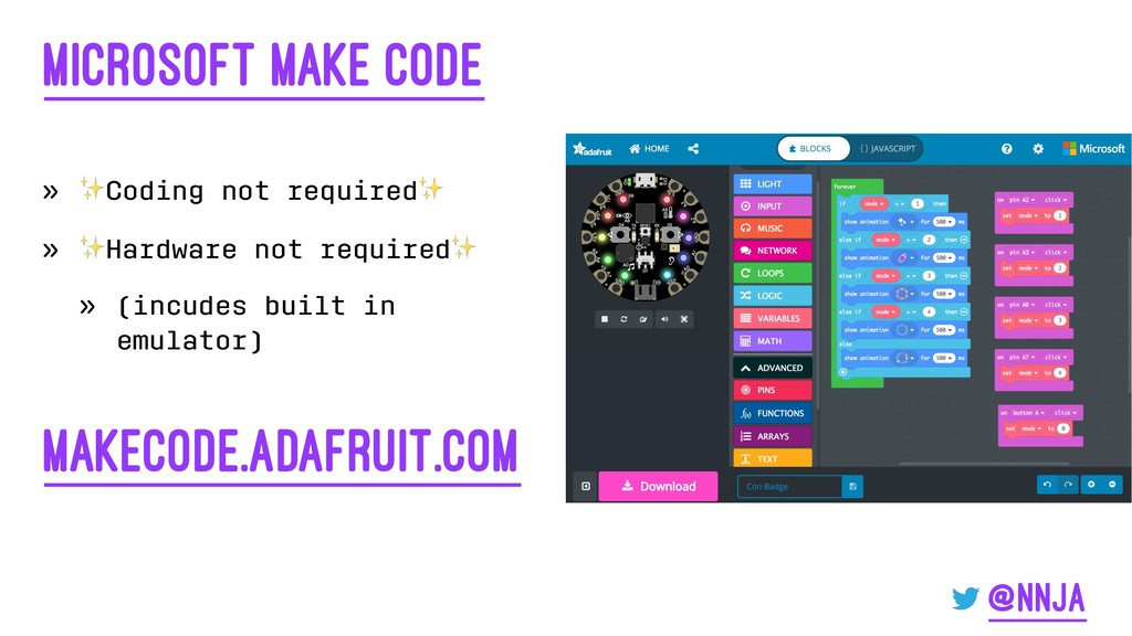 Microsoft Make Code » ✨ Coding not required ✨ »...