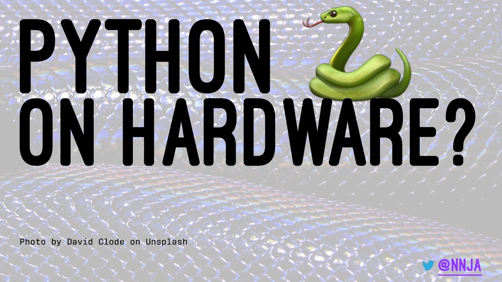 Python on hardware? Photo by David Clode on Uns...