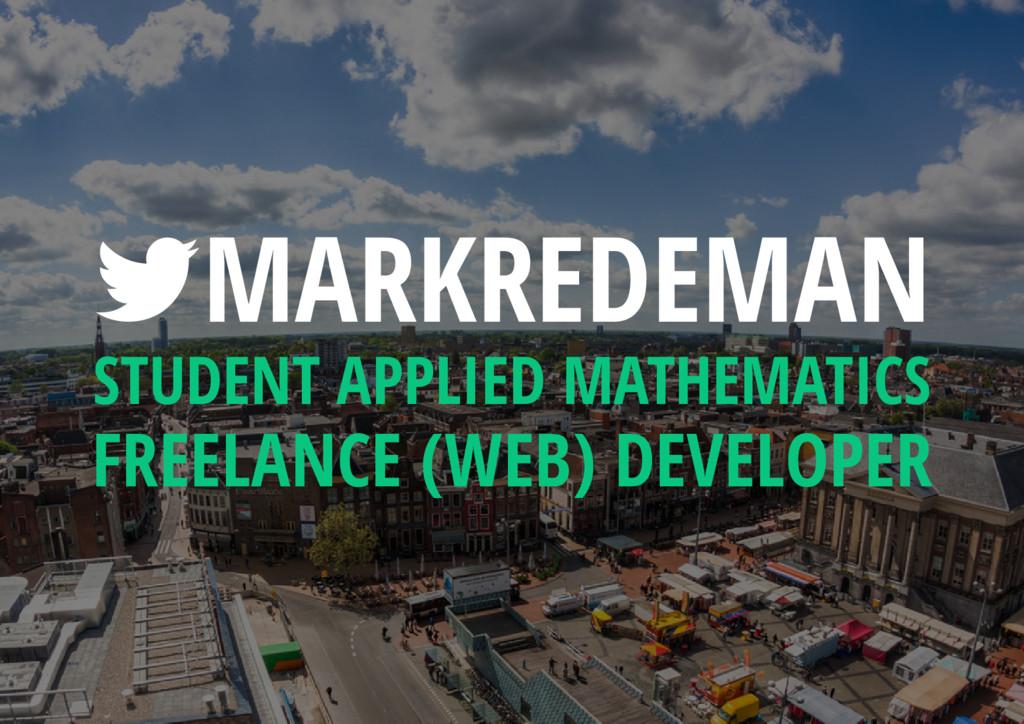 MARKREDEMAN STUDENT APPLIED MATHEMATICS FREELA...