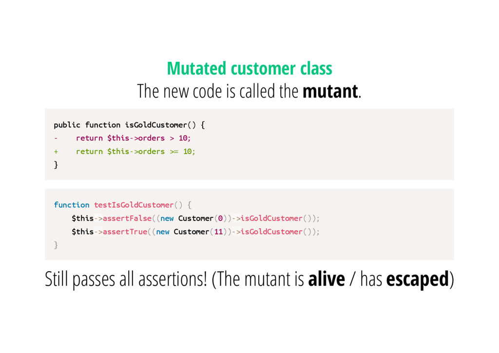 Mutated customer class The new code is called t...