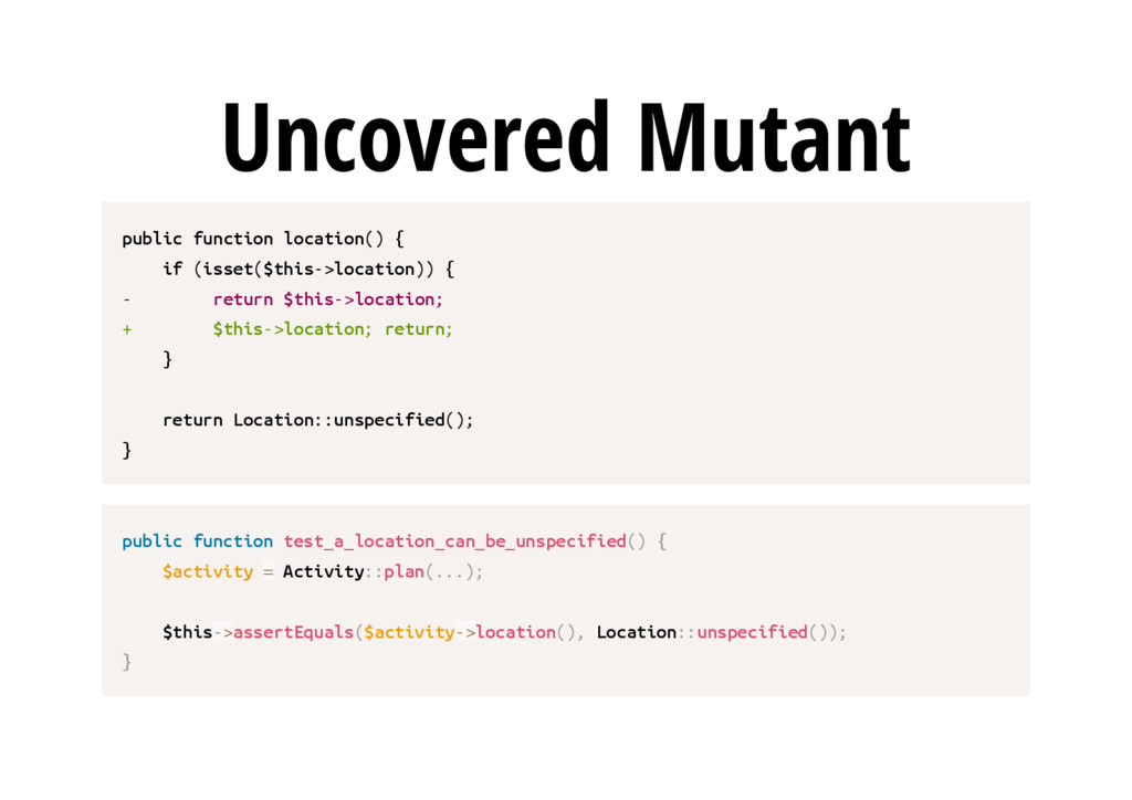 Uncovered Mutant p u b l i c f u n c t i o n l ...