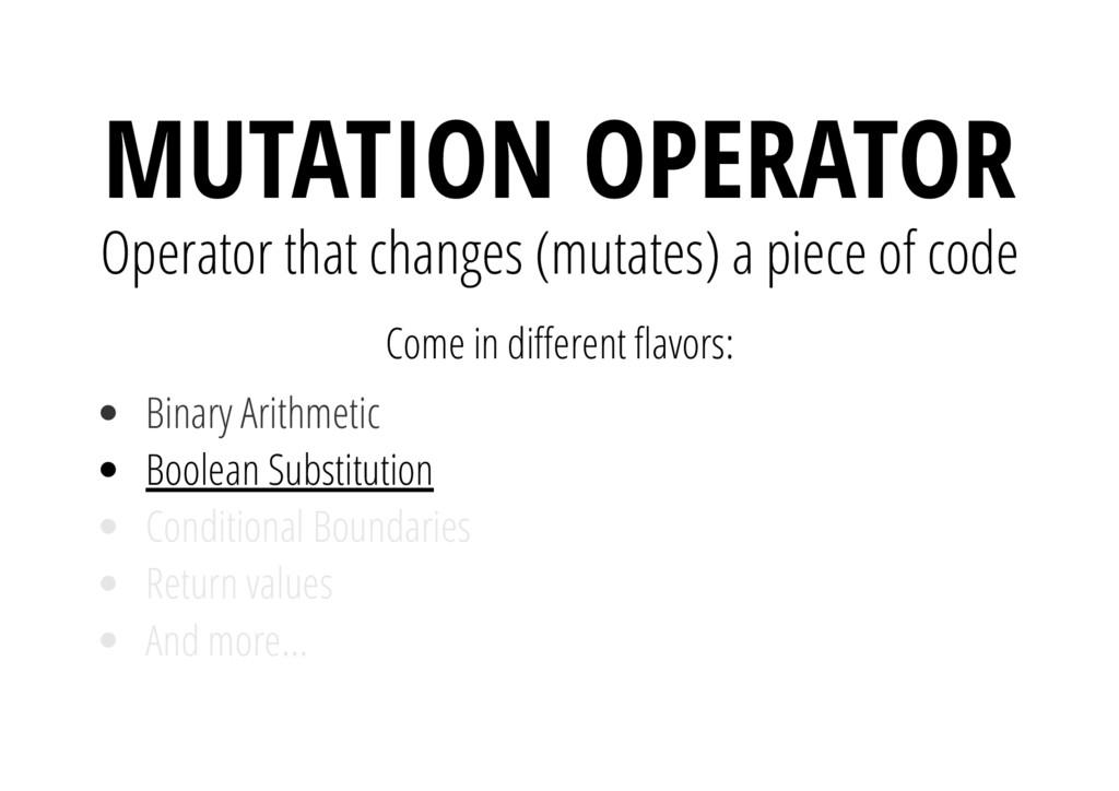 Come in di erent avors: Boolean Substitution MU...