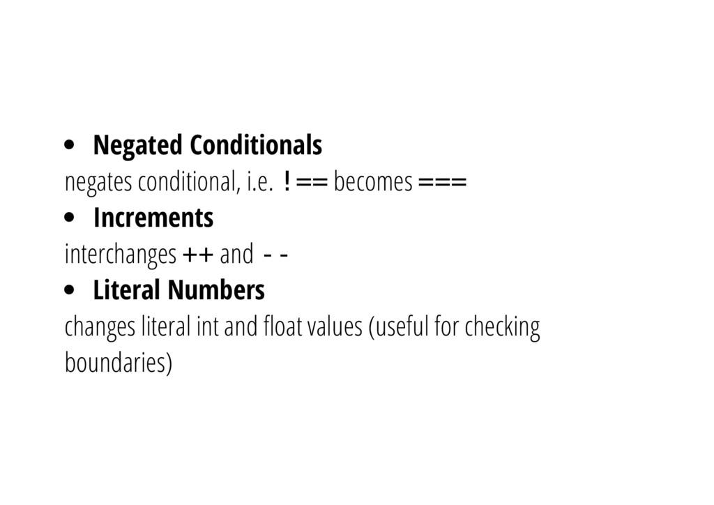 Negated Conditionals negates conditional, i.e. ...
