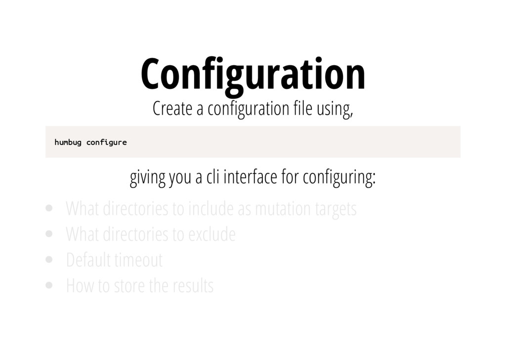 Con guration Create a con guration le using, h ...