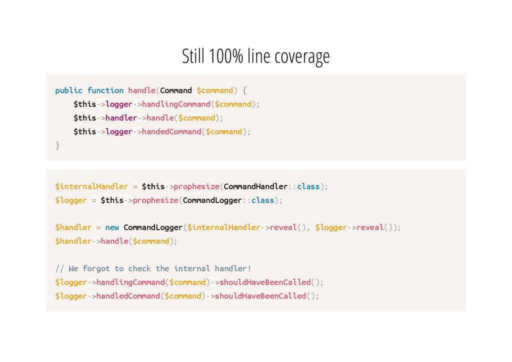 Still 100% line coverage p u b l i c f u n c t ...