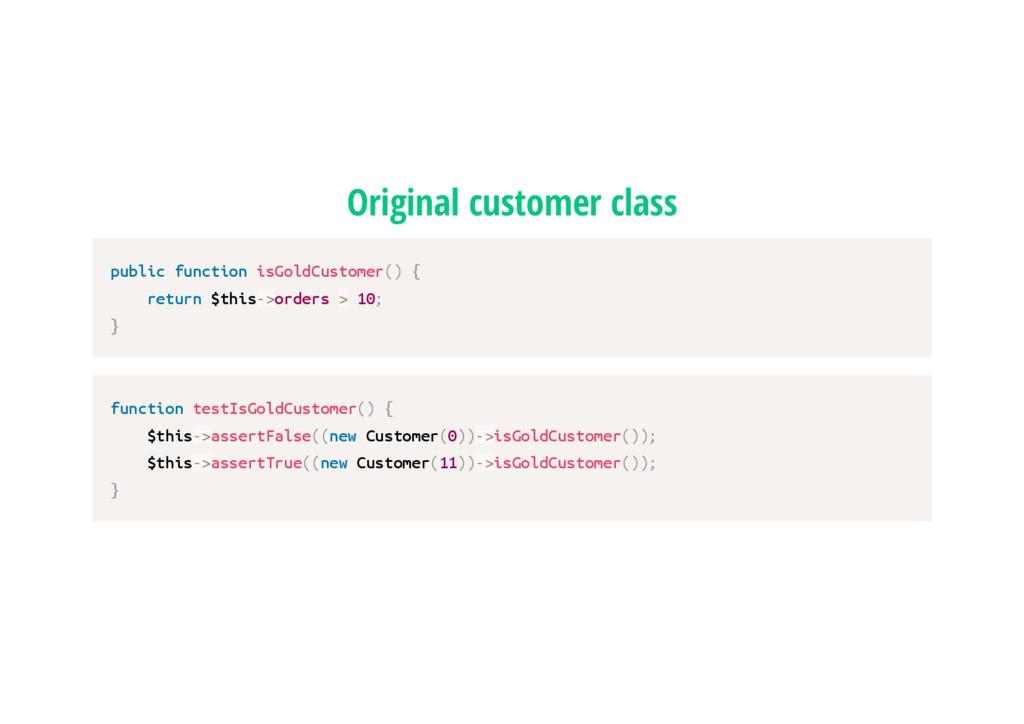 Original customer class p u b l i c f u n c t i...