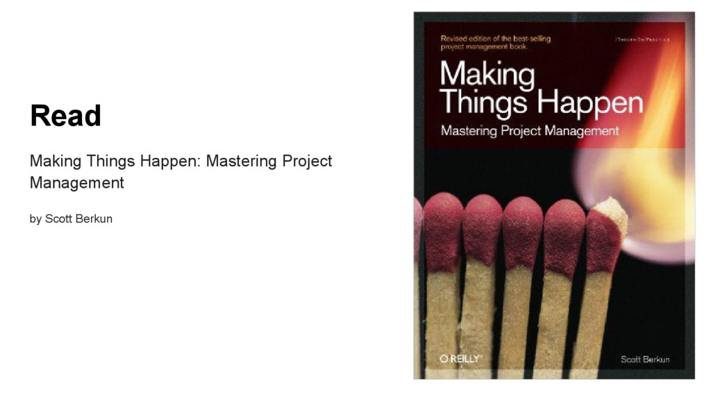 Read Making Things Happen: Mastering Project Ma...
