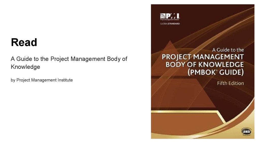 Read A Guide to the Project Management Body of ...